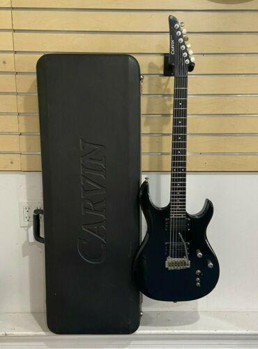 1990's Carvin DC127T Tremolo Jet Black Electric Guitar w/ Original Hard Case